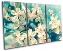Cherry Blossom Teal Floral - 13-0334(00B)-TR32-LO